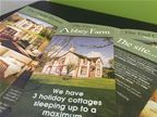 The Abbey Farm - Logo Design - Folded Flyers